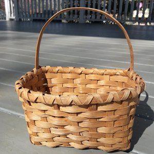 Vintage Wall Hanging Wicker Basket Handle Boho